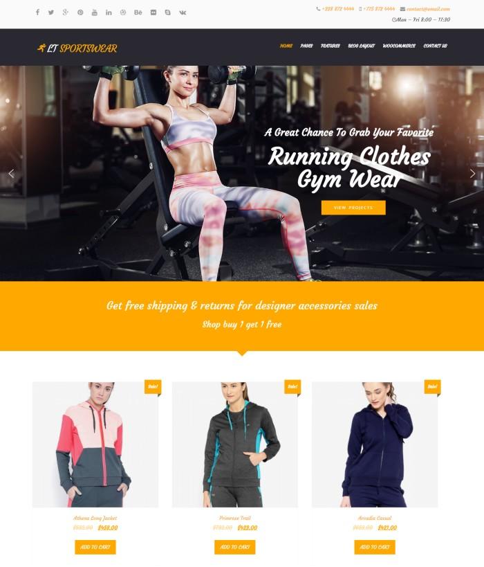 LTSportswear genesis theme