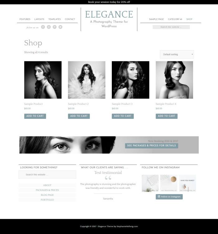elegance genesis theme